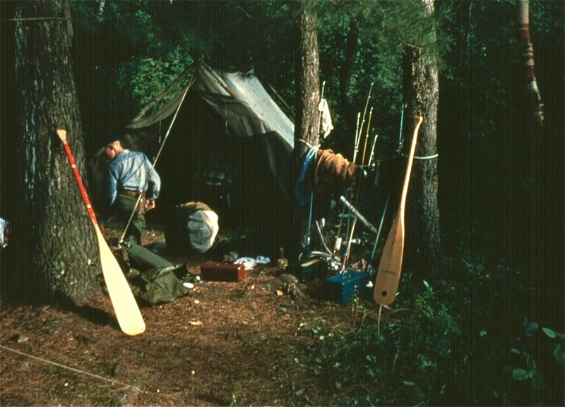 Camping in the Boundary Waters, sometime in the 1960s with Camp Voyageur.